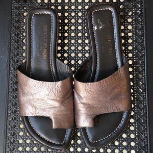 Donald J. Pliner Bronze Sandals
